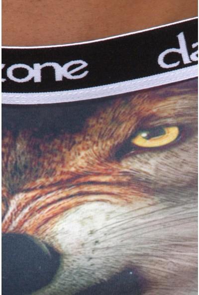 Darkzone Angry Wolf 3D Erkek Boxer Dzn1098Rnk