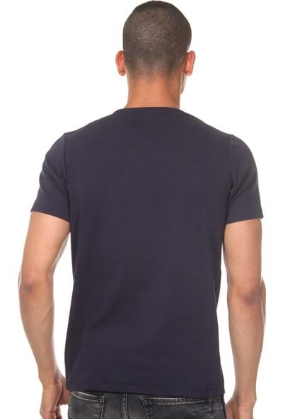 Darkzone Lacivert V Basic T-Shirt Dzn8614Lcv