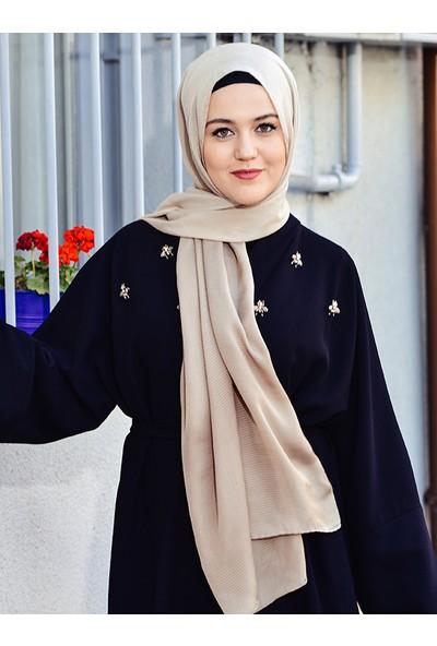Argite Eşarp El Boyama Degrade Şal Camel