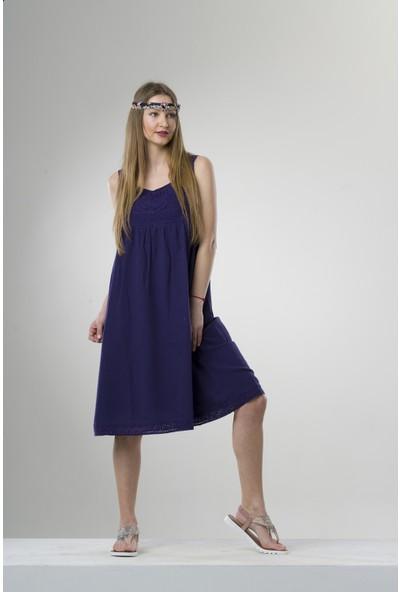 Eliş Şile Bezi Burcu Elbise