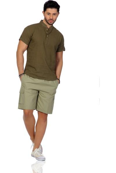 Eliş Şile Bezi Kısa Kol Bodrum T-Shirt