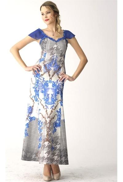 Dodona 2332 Tasarım Uzun Gece Elbisesi