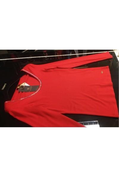 Dodona 2752 Tasarım Yakası Taşlı Şık Bluz