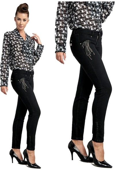 Dodona 1354 Zircon Taşlı Şık Pantolon Kadın