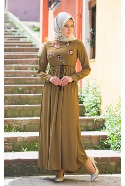 Abacı Kadın Mevsimlik Yeşil Elbise - 17El10367-H51-38