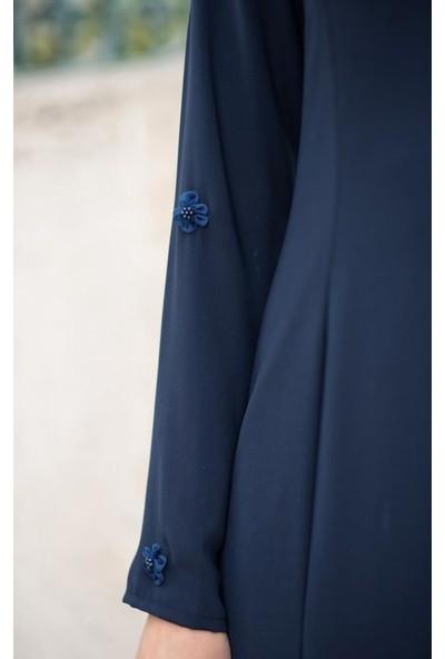 Abacı Kadın Lacivert Çiçekli Elbise El10676-J43-38