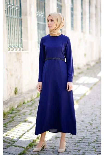 Abacı Kadın Lacivert Şifon Elbise Elb11384K-C71-38