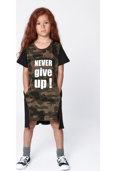 Monokido Bold Never Give Up Elbise Siyah