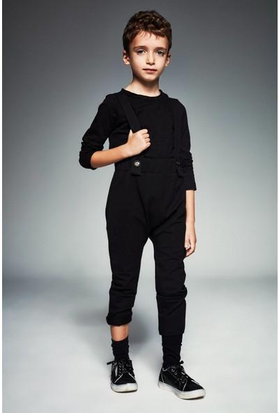 Monokido Supersign Askılı Pantolon Siyah