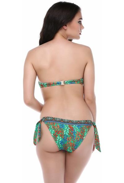 Aquella Kadın Kaplı Straplez Bikini
