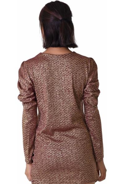Kavshak Kadın Drape Kol Elbise