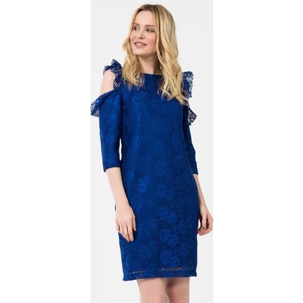 1379ef8324b01 İroni Kol Detaylı Dantel Elbise - 5195-1239 Fiyatı