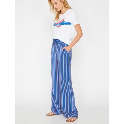 156a6b46df4bf Koton Kadın Çizgili Pantolon Fiyatı - Taksit Seçenekleri