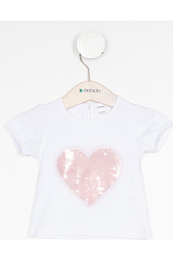 DeFacto Girls Sequin Detail T-Shirt