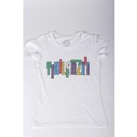 Bizim Aile Beyaz Kadın T-Shirt Yıkılanzi