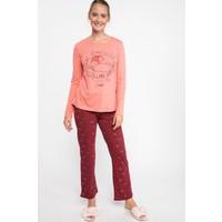 Defacto J7447Az18 Baskı Detaylı Desenli Pijama Takımı