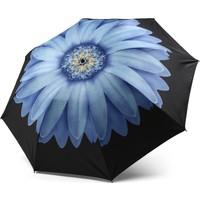 Almera Dışı Mavi Çiçekli Katlanır Kadın Şemsiye 340B