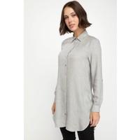 Defacto Kadın Yüksek Manşetli Gömlek Tunik