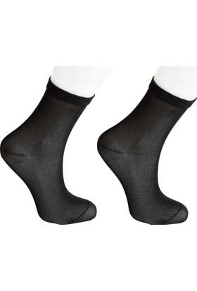 Madame Coco Bayan Simli Çorap - Siyah