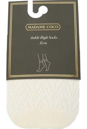 Madame Coco Angel File Soket Çorap - Ekru