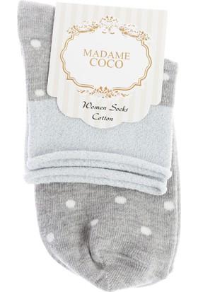 Madame Coco Simli Patik Çorap - Gri / Silver