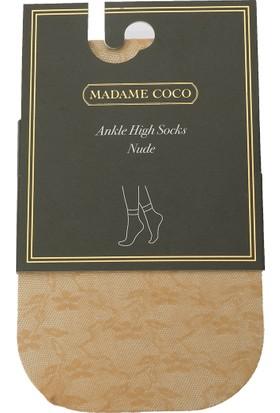 Madame Coco Begonvil Soket Çorap - Ten