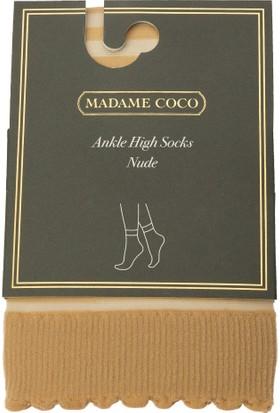 Madame Coco Çizgili Soket Çorap - Ten