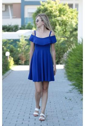 Stil Town Askılı Mini Elbise