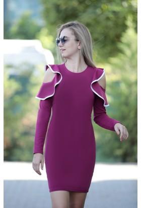 Stil Town Kollu Mini Elbise