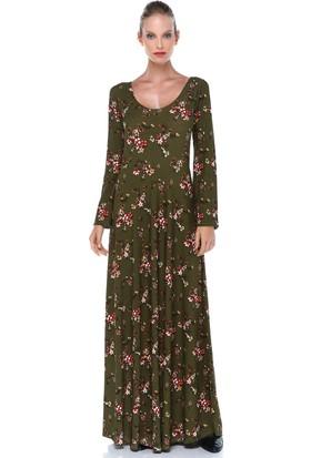 Quincey Kadın Krep Maxi Elbise