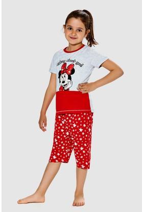 Minnie Mouse Kız Garson Pijama Takımı