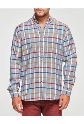 Uztex 1937 Compact Uzun Kol Lacivert Gömlek