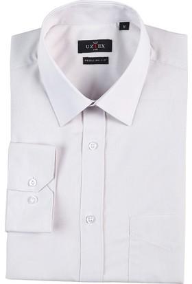 Uztex 1141 Dacron Klasik Yaka Uzun Kol Taş Gömlek