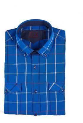 Uztex 1935 Wagabondo Safari Slım Uzun Kol Saks Gömlek