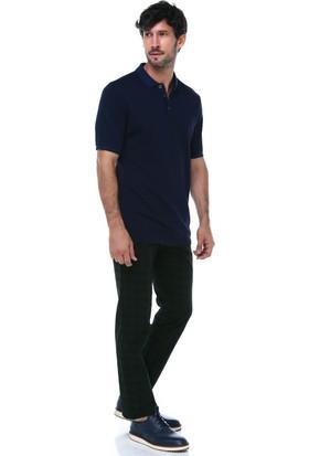 İmza Slim Fit Ekose Klasik Pantolon