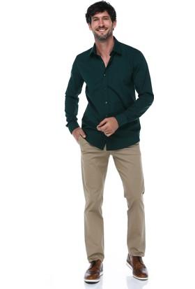 İmza Comfort Fit Baskılı Klasik Pantolon