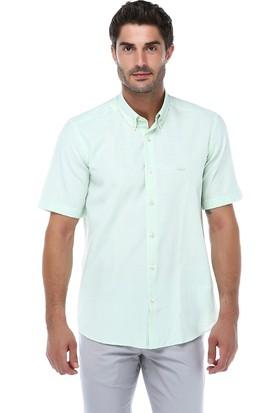 İmza Slim Fit Ekose Kısa Kol Gömlek