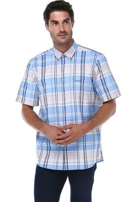 İmza Comfort Fit Ekose Kısa Kol Gömlek