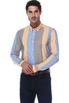 İmza Slim Fit Çizgili Uzun Kol Gömlek