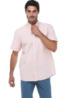 İmza Comfort Fit Kareli Kısa Kol Gömlek