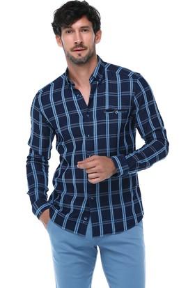 İmza Slim Fit Ekose Uzun Kol Gömlek