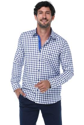 İmza Slim Fit Kareli Uzun Kol Gömlek