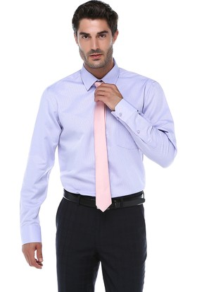 İmza Comfort Fit Desenli Uzun Kol Gömlek