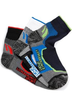 Lumberjack Village Siyah Beyaz Lacivert Erkek Çorap