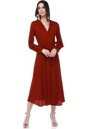 Cream&Rouge 18Y200 Elbise Arka Açık Bağlamalı