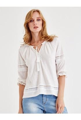 Jimmy Key Beriva Kadın Bluz Beyaz 2202021