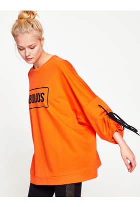 Koton Kadın Ebru Şallı Loves Koton Sweatshirt