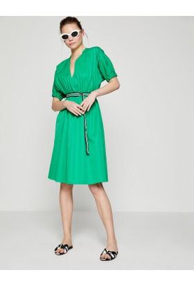 Koton Kadın Kemer Detaylı Elbise