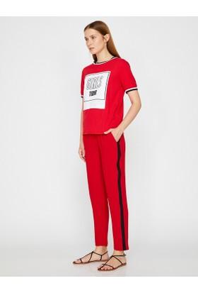 Koton Kadın Şeritli Pantolon