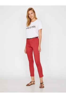Koton Kadın Kemer Detaylı Pantolon